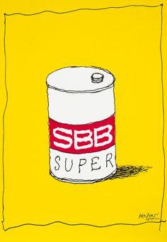SBB Super by Leupin, Herbert | Shop original vintage #posters online: www.internationalposter.com