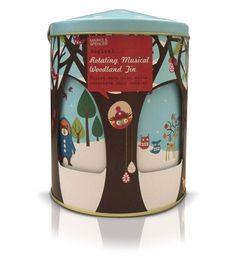 Marks & Spencer's Rotating Musical Cookie Tin #packaging