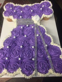 Edible Arts By Nu'Nu ~ Purple Princess pull apart cupcake cake