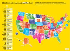 US Map of breweries. A bit of a misrepresentation though.  A lot of very good breweries not listed...