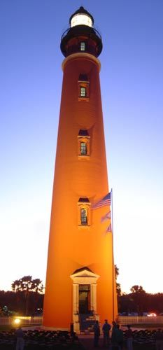 Completed in the Ponce de Leon Inlet Light Station was built when the area was known as Mosquito Inlet. After decades of restoration by the Ponce de Leon Inlet Lighthouse Preservation Association, it stands today as on Ponce Inlet Lighthouse, Saint Mathieu, Lighthouse Lighting, Beacon Of Light, Daytona Beach, Sunshine State, Windmill, Around The Worlds, Vacation