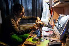 ArtBanana náhlíží do ateliérů: Matěj Olmer Online Galerie, Artist, Painting, Fictional Characters, Adapted Physical Education, Atelier, Physical Activities, Artists, Painting Art