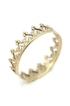 14K / 14ct GOLD Crown Ring - Queen of Life. Made in UK. Free Worldwide Shipping on Etsy, $167.63 AUD