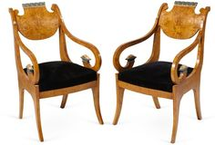 C. 1830 Russian Armchairs, Pair