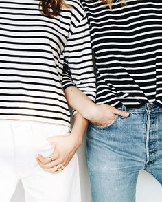 Stripes are better with friends. Photo by @Taylranne. Shop stripes.