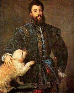 "Titian (Tiziano) ""Portrait of Frederico Gonzaga"", 1529 (Italy, High Renaissance, 16th cent.)"