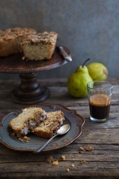 Eggless Pear, Ginger and Rosemary Cake