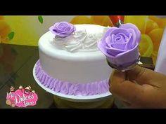 Decoracion de torta con crema chantilly PASTEL DE CUMPLEAÑOS PARA NIÑA Y DAMA - YouTube Cake Icing, Buttercream Cake, Cake Decorating Videos, Cookie Pie, Amazing Cakes, Birthday Cake, Cupcakes, Make It Yourself, Desserts