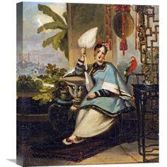 Global Gallery 'Portrait of a Girl' by George Chinnery Painting Print on Wrapped Canvas Size: