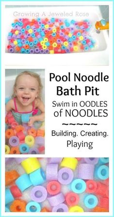 Such a cool idea to play w your kid! #sensoryplay #sensory Fun Math Activities, Fun Games, Infant Activities, Indoor Activities, Family Activities, Diy For Kids, Crafts For Kids, Baby Pool, Kiddie Pool
