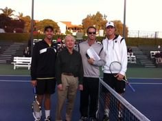 Tennis legend, Rod Laver visits La Costa often to play and provide tips