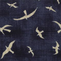 HEARTY GOOD WISHES Moda nautical quilt fabric Janet Clare chambray navy blue cream seagulls Americana primitive 1 yard Nautical Quilt, Fabric Yarn, Cotton Fabric, Little Boy Fashion, Dark Blue Background, Fabulous Fabrics, Haberdashery, Quilting Designs, Fabric Patterns
