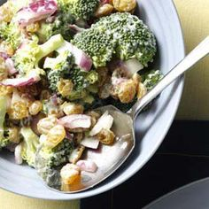 Broccoli Raisin Salad-- why don't I make more often, I LOVE THIS STUFF