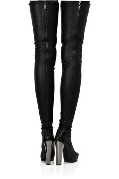 ROBERTO CAVALLI Leather thigh-high boots 55e7dbb8dd7b