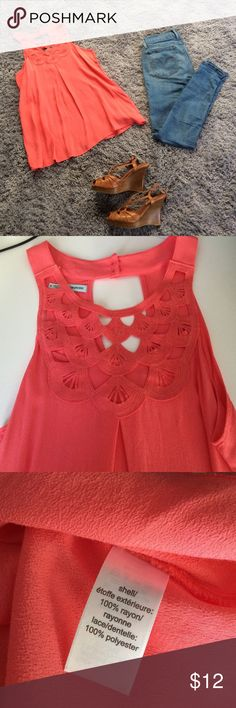 Cute peach top. New! Small. Cute peach top. Perfect for summer. Where with your favorite pair of jeans or shorts. Tops