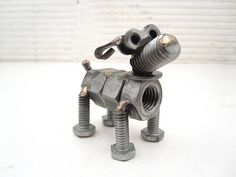 Nuts and Bolts Dog Sculpture | www.browndogwelding.com | Flickr