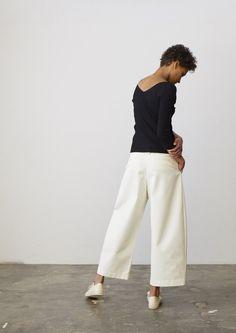 Bonnard Pant In Ivory - Studio Nicholson