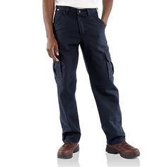 5de10f33f0473 Carhartt Flame Resistant Canvas Cargo Pant · Carhartt PantsCargo  Pants30thCanvasNavyMenWork ClothesFatherBrown