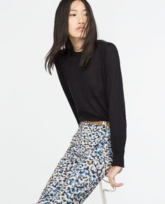 ZARA - COLLECTION AW15 - PRINTED TROUSERS
