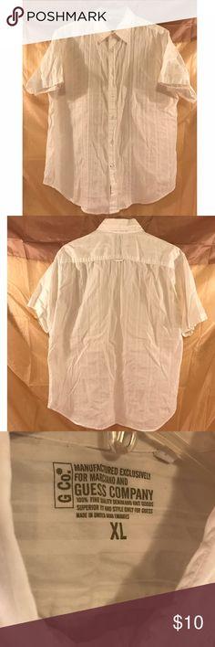 Men's Guess Shirt Men's Guess short-sleeved shirt for sale. Great shirt for the summer! Guess Shirts Casual Button Down Shirts