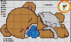 Cross Stitch Boards, Cross Stitch Fabric, Cross Stitch Baby, Cross Stitch Animals, Cross Stitching, Disney Cross Stitch Patterns, Cross Stitch Designs, Baby Cartoon Characters, Hama Beads Disney