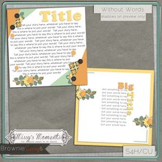 Missy's Moments Without Words: $1.50 @ browniescraps.com