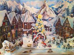 Vintage 3 D Western Germany Advent Calendar