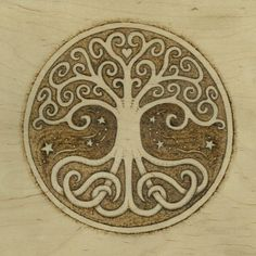 fuckyeahpaganism:  Tree Of Life Pyrography Giclee by JasonGianfriddo