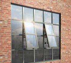 MHB slim steel windows merge the beautiful designs of traditional steel windows with modern performance requirements. Steel Windows, Attic Loft, Attic Design, Attic Remodel, Mondrian, Steel Frame, Glass Door, Industrial Style, Storage Spaces