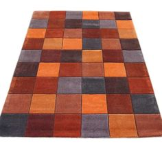 Eden - ED-13 Pixel Terracotta Rugs | Modern Rugs