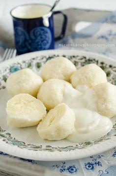 Mirabelkowy blog: Węgierskie knedle z białego sera