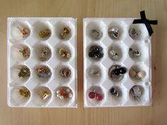 Organize brincos pequenos - DIY
