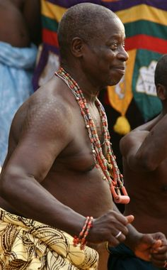 Vodunpriest in temple of Heviosso, god of thunder. Benin