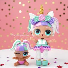 LOL Surprise Unicorn has been united with her lil sister Check out our DIY video of lil unicorn on our YouTube channel now at Sophies Play Day. The link is in our bio! #lolsurprise #lolsurpriseseries3wave2 #lolsurpriselilsisters #lolsurpriselilsistersseries3 #lolsurpriselilsistersseries3wave2 #lolsurpriseunicorn