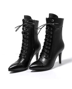 Woman's Genuine Leather Fashion Black Boots | Cheap Leather Boots