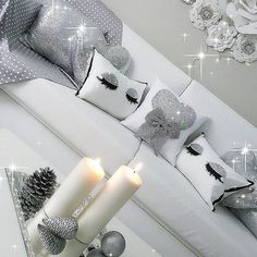I adore the sparkly silver home decor living room black and furniture Glam Room, Woman Cave, White Rooms, Deco Design, Home And Deco, Beauty Room, My Room, Girls Bedroom, Home Accessories
