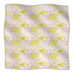 """Alison Coxon """"Yellow"""" Fleece Throw Blanket"""