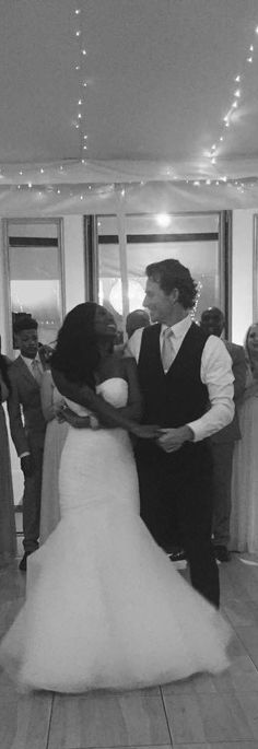 First Dance as Mr. and Mrs.  bwwm #wmbw #swirl #interracial love