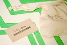 Fabric Bag Packaging, hand stamped.