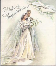M256 Vintage Wedding Greeting Card By Rust Craft Jarysstuff 300