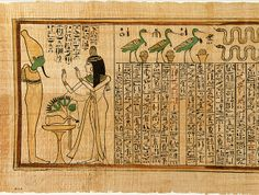 "Section from the ""Book of the Dead"" of Nany [Egyptian; Western Thebes] (30.3.31) 