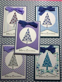 Merry Christmas cards made with Stampin Up Stamp