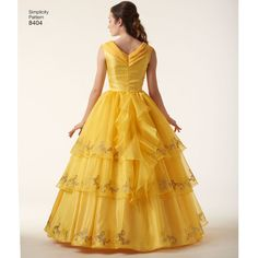 Simplicity Pattern EA840401 Misses' Disney Live Action Belle Costume ($25) ❤ liked on Polyvore featuring costumes, belle halloween costume, disney costumes, disney, disney halloween costumes and belle costume