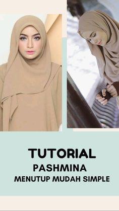 Simple Hijab Tutorial, Hijab Style Tutorial, Casual Hijab Outfit, Hijab Dress, Video Hijab, Pashmina Hijab Tutorial, How To Wear Hijab, Hijab Fashion Inspiration, Hijabs