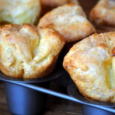 Popovers With Whipped Strawberry Butter from Just a Taste