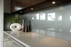 Duck egg blue/grey splashback