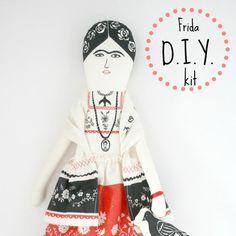 Frida Kahlo Doll D.i.Y kit. €18.00, via Etsy.