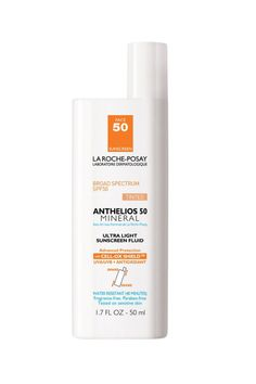 La Roche-Posay Anthelios 50 Mineral Tinted Sunscreen for Face, SPF 50, $25