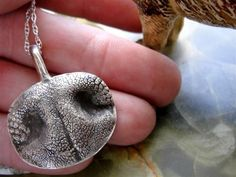 Dog Nose Necklace Personalized in Sterling door rockmyworldinc, $229,99