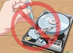 How to Recover a Dead Hard Disk: 9 Steps (with Pictures) - wikiHow Computer Password, Computer Diy, Computer Hard Drive, Computer Basics, Computer Projects, Computer Maintenance, Hobby Electronics, Technology Hacks, Hard Disk Drive